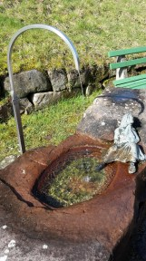 Au bord du sentier, à quelques encablures de Forbach, Hexenbrunnen (fontaine de la sorcière).