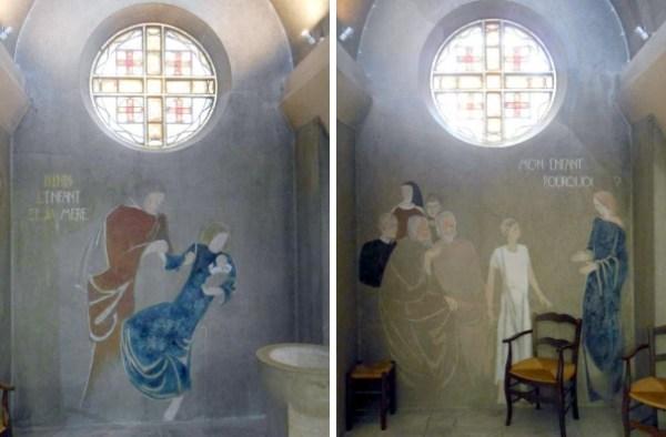 J. Mesnet, fresques de la chapelle Sainte Famille