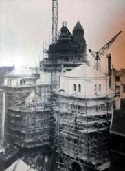 Photographie des dômes en cours de construction (© AHAP, 1D-3D).