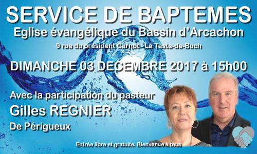 Service de baptêmes