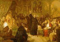 Luther a la Diete de Worms, 1521: Me voici, je ne puis faire autrement; Dieu m'assiste ! Amen.
