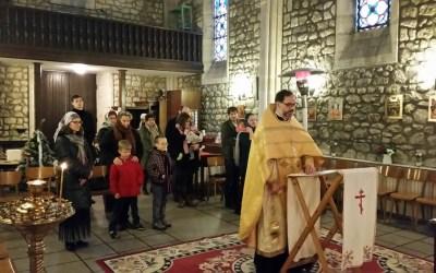 Первая литургия в Серафимовском храме в Новом Году