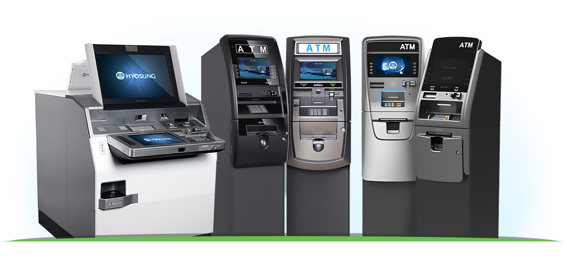 Complete ATM Managed Services Hyosung MX8800, HALO-II, Force ATMs, and Genmega ATMs