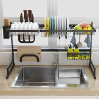Black stainless steel kitchen rack sink sink dish rack ...