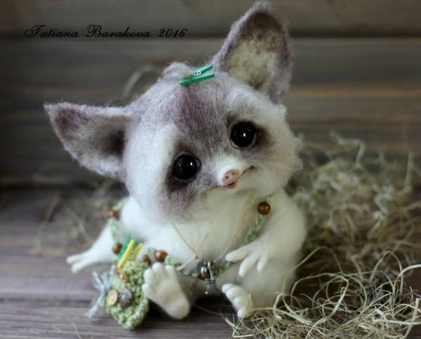 Adorable little animals manufactured by Tatiana Barakova