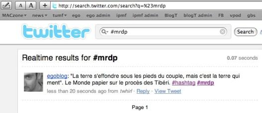 hashtag #mrdp exemple