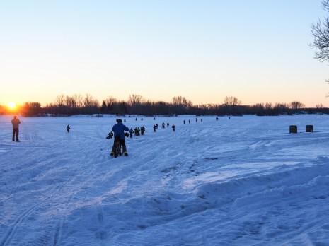 Frozen St. Malo Lake at sunrise, a kilometer away from The Start