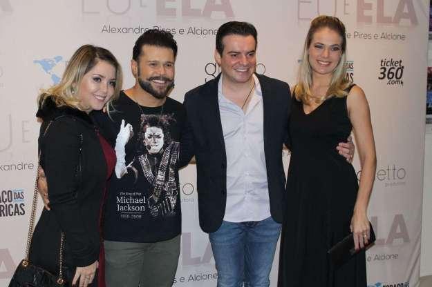 Marcos com Lu Marchioto e Belutti com Thaís Pacholek - Fotos: Renato Cipriano e Zuleika Ferreira - Divulgação