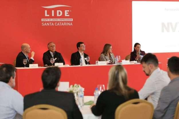 Cristina Palmaka se reuniu com empresários do LIDE Santa Catarina - Foto: Divulgação
