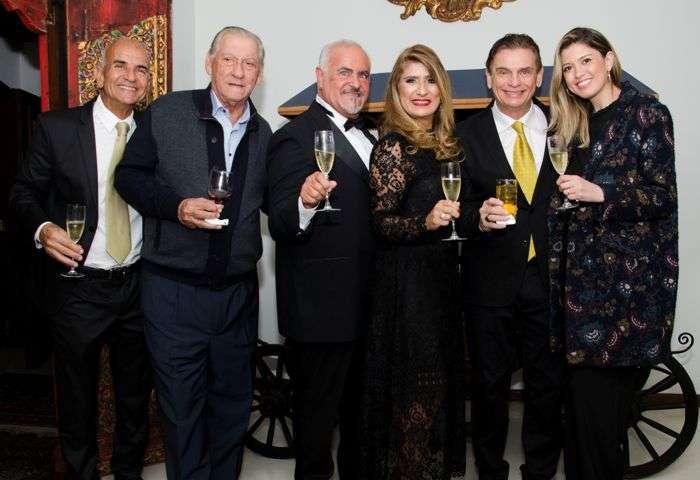 José Nicolau, Humberto Verri, Tadeu e Jô Ribeiro, Luiz e Flávia Andreoli