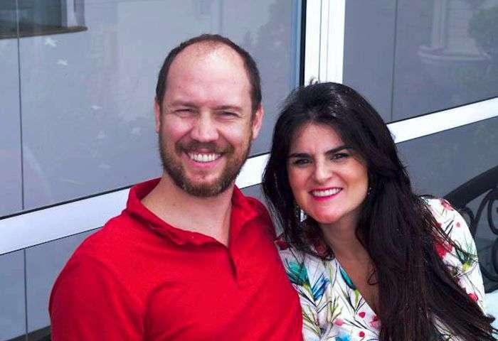 Camile Nigro Ribeiro com seu esposo - Foto: Alvaro Talaia