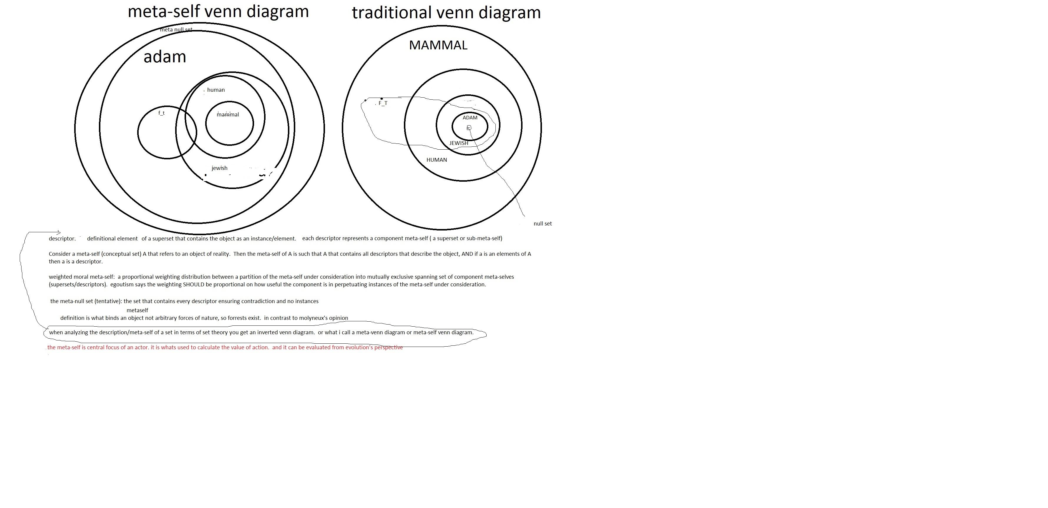 The Meta-Self: The Meta-Venn Diagram, a refined definition