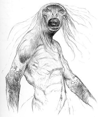 john_howe_beowulf_grendel sketch