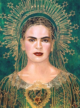 Frida, Original on Wood-By Maria Kane 1