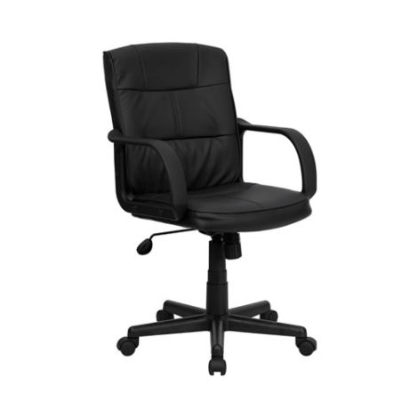 office chair rental replacement wood legs chairs black leather mid back egpres chicago