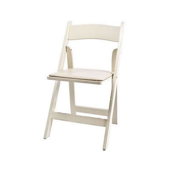 folding chair rental chicago patio inserts garden chairs ivory resin wood suburbs