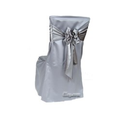 Large Banquet Chair Covers Bar Height Patio Chairs Lowes Platinum Satin Lamour Extra Cover