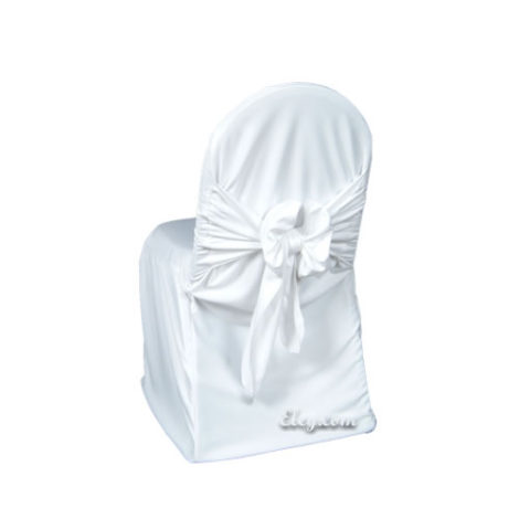 white universal chair covers alliance party scuba wrinkle free cover with easy sash