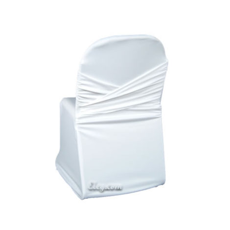 white universal chair covers full of bowlies scuba wrinkle free cover with swagback egpres no sash