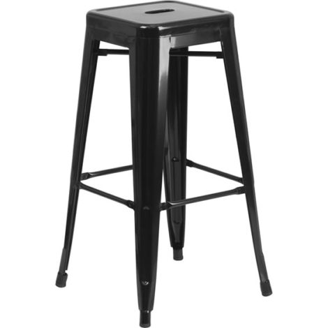 chair stool black hanging walmart chino metal barstools bar stools dining chairs square 12x12x30