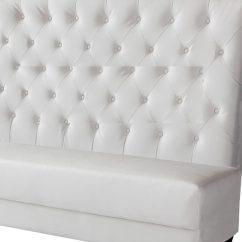 Armless White Leather Sofa Italia James Reviews Baci Living Room