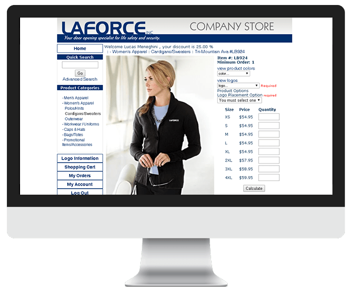 Laforce Ecommerce store