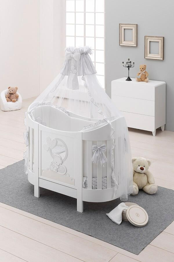 Cot oval love with quilt and Italbaby mattress  MAGICHE