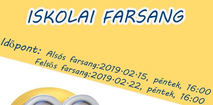 Hamarosan itt a Farsang!