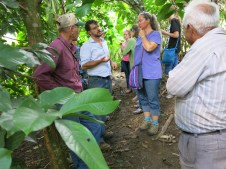 Learning about coffee and the many other crops Felipe grows