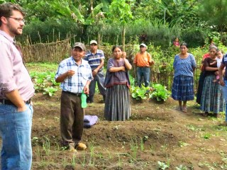 Carlos sharing about the garden project