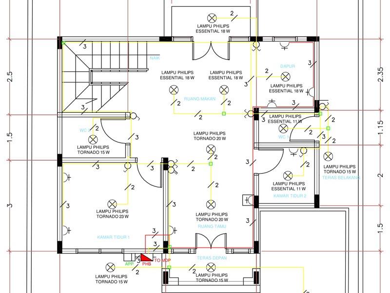 Perencanaan instalasi listrik rumah bertingkat dua lantai egsean perencanaan instalasi listrik rumah bertingkat dua lantai ccuart Images