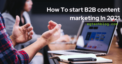 How To start B2B content marketing In 2021