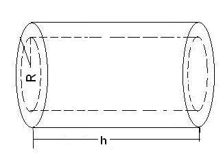 Volume of cylindrical pipe or tube Calculator with inner