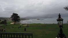 18th hole at the Pebble Beach Golf Course.