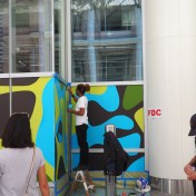 Mural at SF Transit Center, opening day