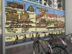 Mural at SF Transit Center