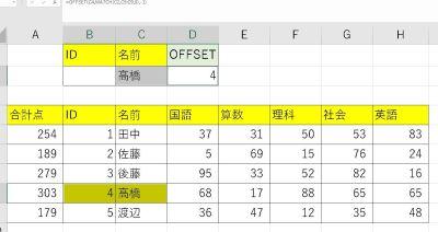 VLOOKUP関数で取得できない検索結果の「左側の列」を取得する方法PART2|OFFSET関数&MATCH関数