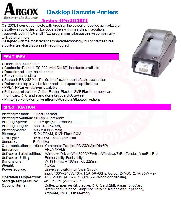 Argox OS-203DT