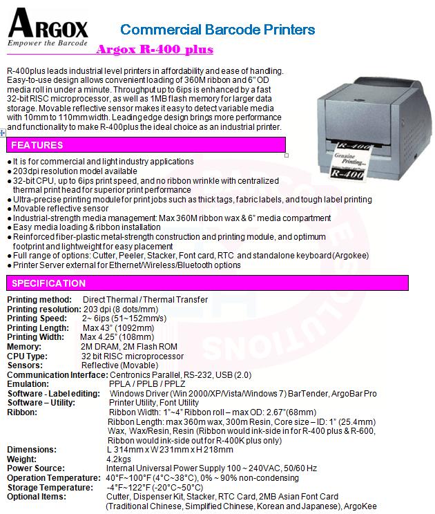 ARGOX R-400 DRIVERS (2019)