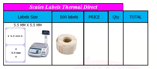 SCALES BARCODE LABELS (4)