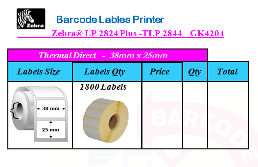 Zebra® LP 2824 Plus -TLP 2844 – GK420 t