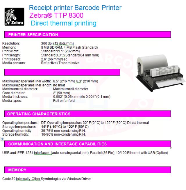 Zebra® TTP 8300