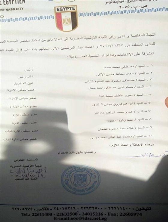 اعتماد نتيجة انتخابات نادى بلدية المحلة 2017-2021