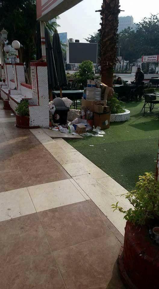 القمامة فى نادى الزمالك