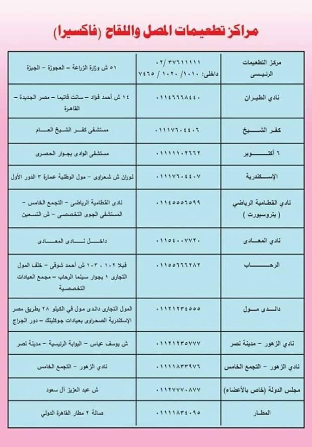 مراكز المصل واللقاح فاكسيرا