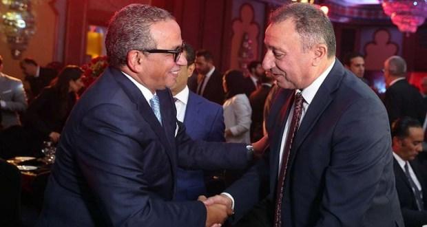 محمود الخطيب رئيس النادي الاهلي وعمرو الجنايني رئيس اتحاد الكرة