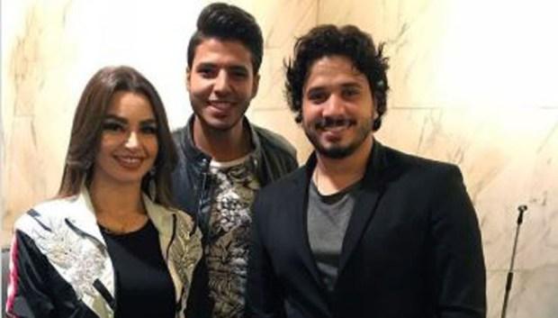 خالد احمد مع جوهرة ومصطفي حجاج