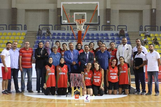 تتويج فريق نادى سبورتنج بالميدالية البرونزية يكأس مصر لكرة السلة سيدات 2020