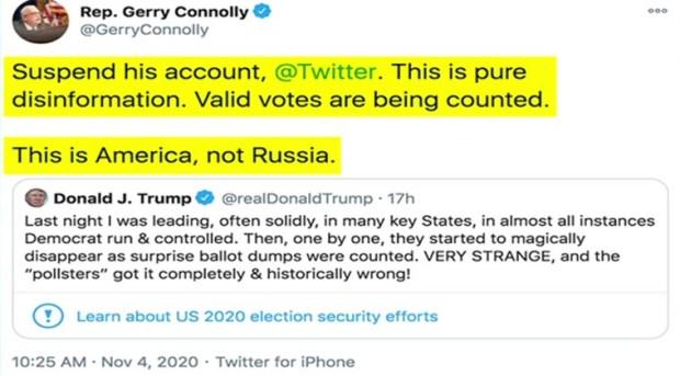تغريدة ترامب تزوير انتخابات الرئاسة الامريكية