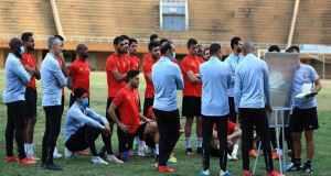 تدريبات الاهلي مباراة سونديب في النيجر